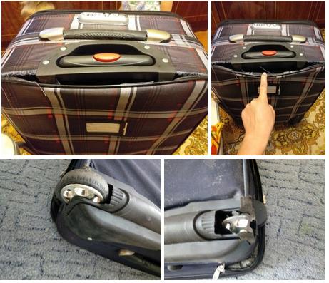 после ремонта чемодана на колесиках
