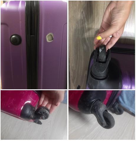 до ремонта чемодана на колесиках
