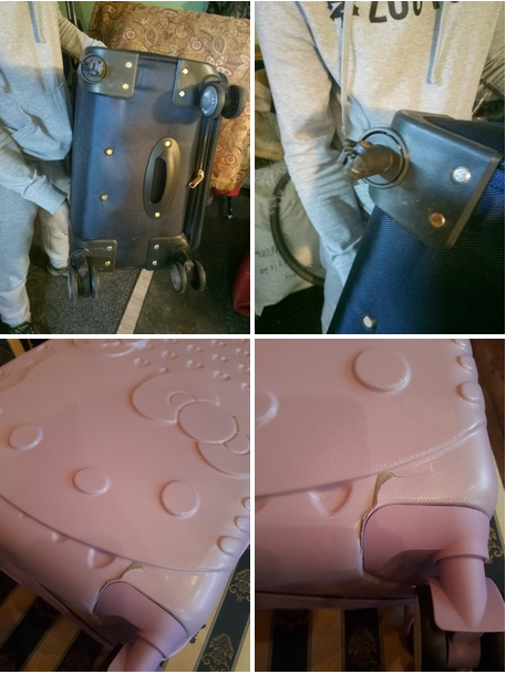до и после ремонта чемодана на колесиках