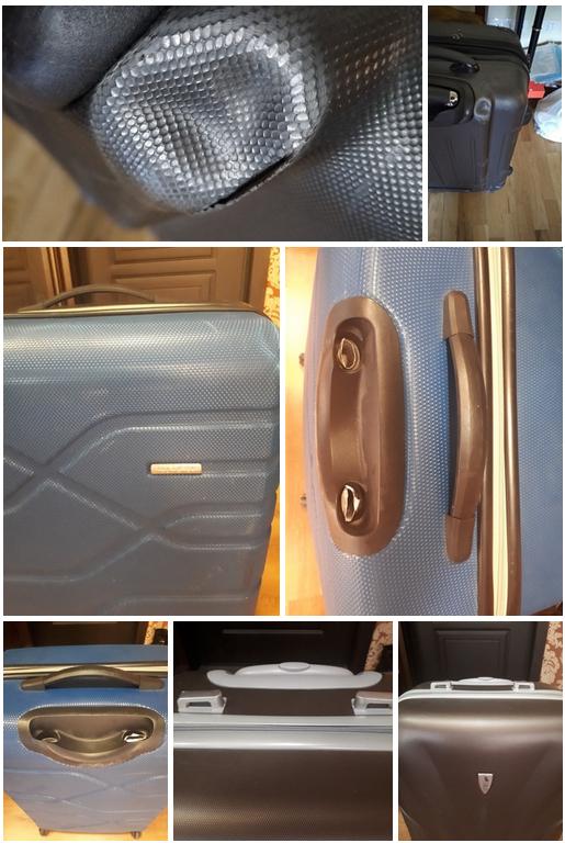 фотография до и после починки чемодана