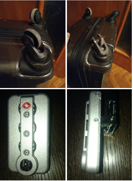 замена кодового замка в чемодане Grott