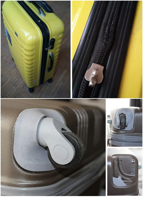 ремонт молнии чемодана Grott