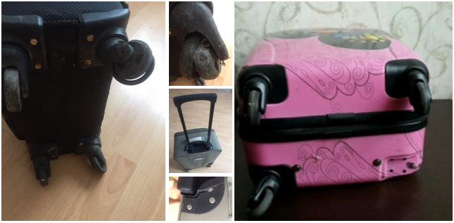 ремонт ножек чемодана Gillivo