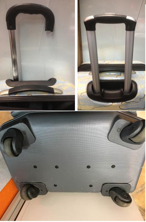 ремонт телескопической ручки чемодана Happy Trip