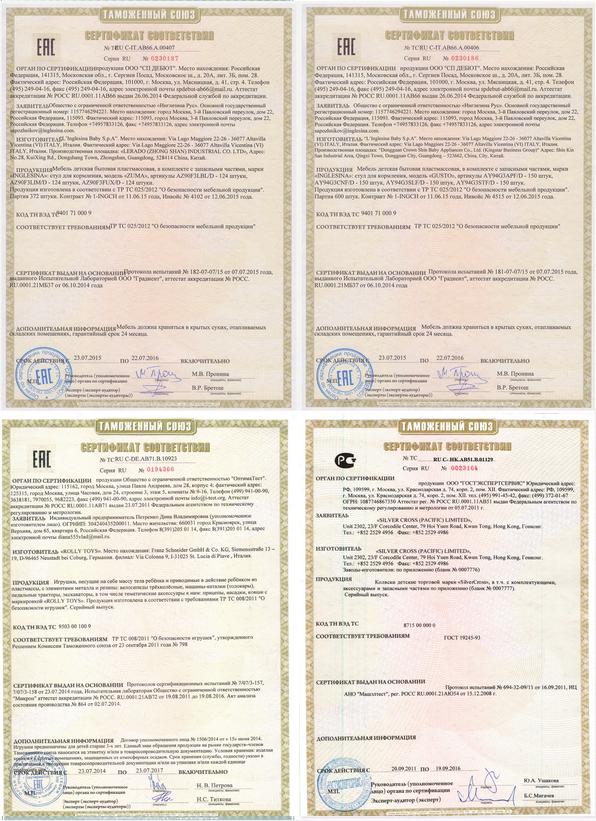сертификат на комплектующие для чемоданов