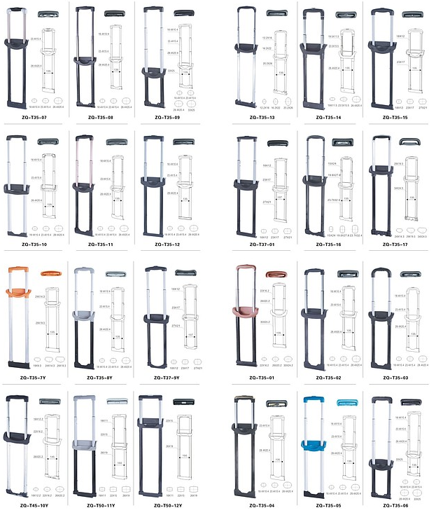 телескопические ручки для чемоданов